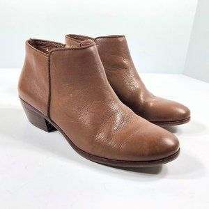 Sam Edelman Petty Saddle Leather Ankle Boots 6.5M